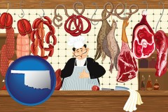 oklahoma meats in a butcher shop